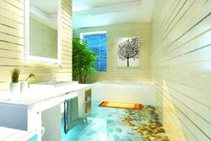 Ứng Dụng Gạch 3D Trong Không Gian Phòng Tắm - Xu Hướng Nội Thất Hòa Quyện Cùng Thiên Nhiên